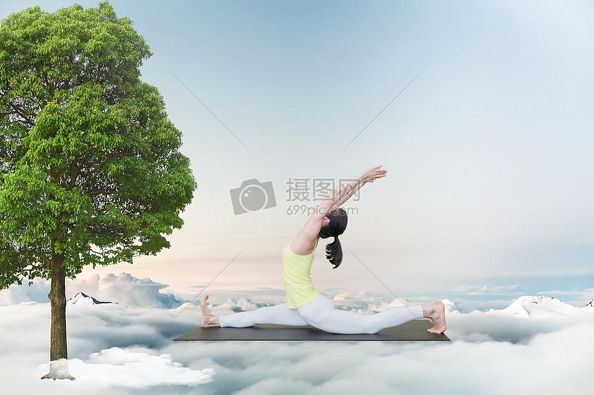 空中瑜伽图片