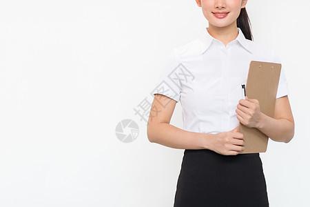自信的职场女性推门图片