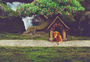 狗狗和风景的合成海报图片