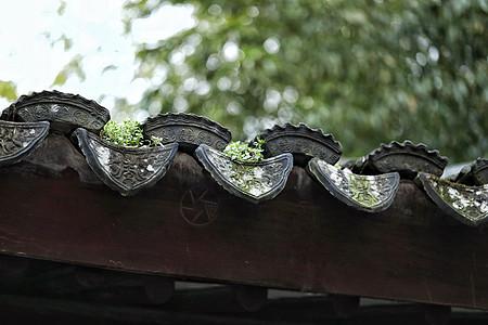 苏州园林某处的瓦当图片