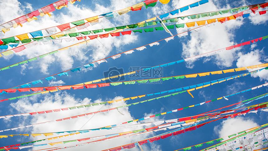 西藏经幡图片