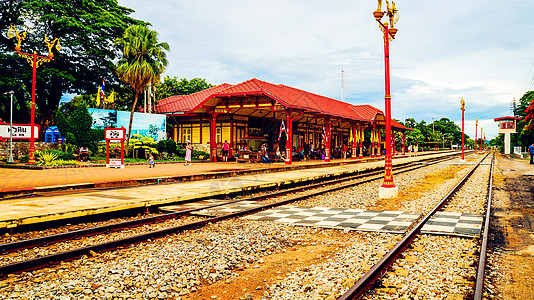 泰国火车站台图片