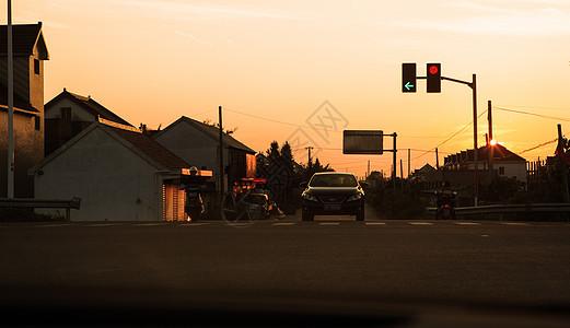 小镇的黄昏图片