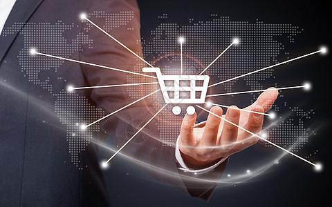 网络连接网上购物图片