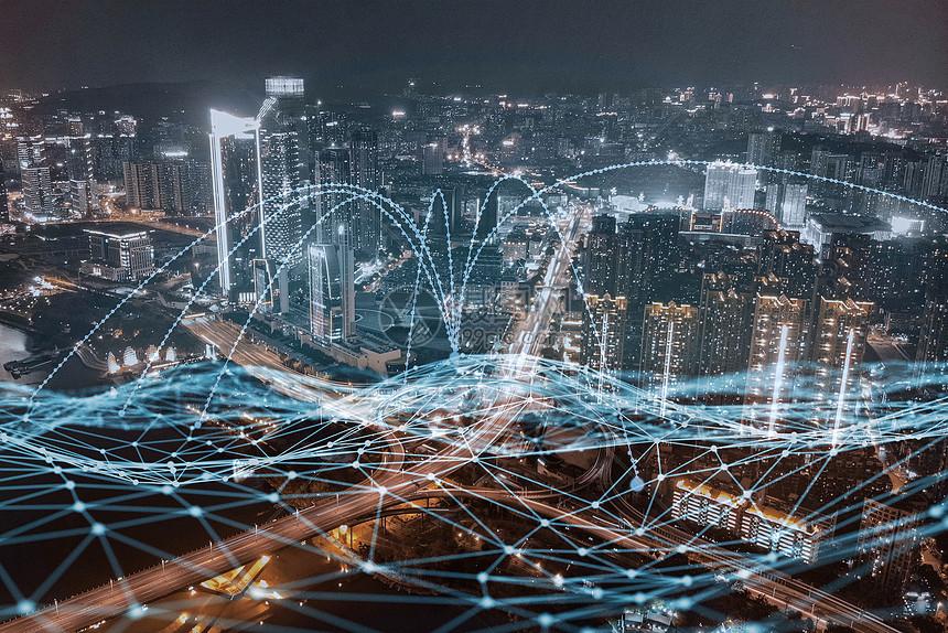 城市夜景地图图片