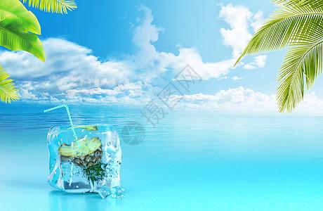 夏天 假日 主题 海报图片
