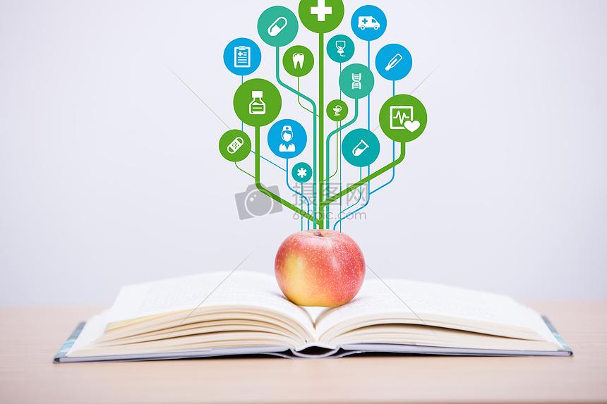 创意苹果树图片