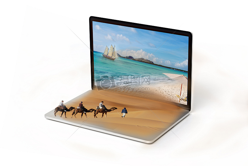 沙漠与海 图片
