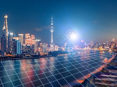 夜景建筑与科技图片