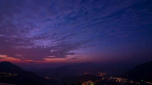 厦门十里蓝山景区黄昏夜景图片