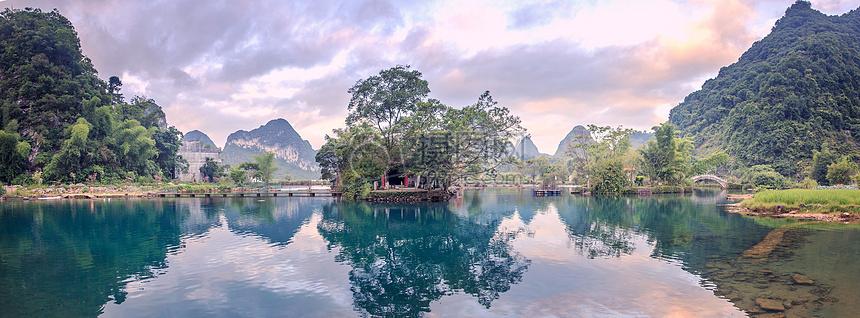 广西靖西鹅泉全景图图片
