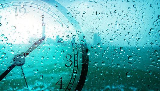 玻璃时钟背景图片