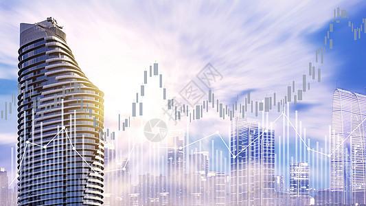 城市和数据的合成图图片