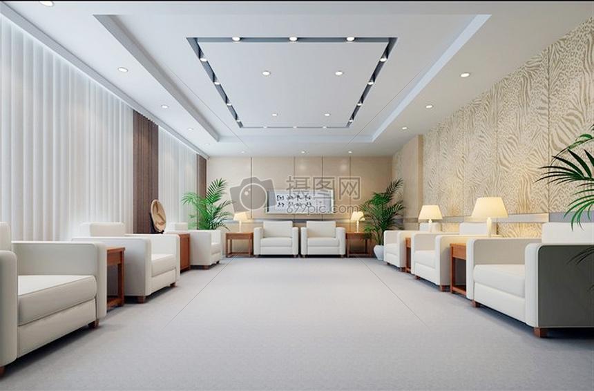 工装效果图办公室效果图办公空间效果图公装某办公场所休息区效果图