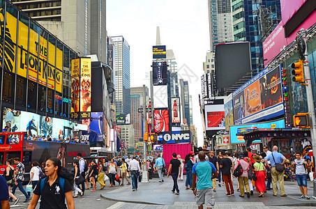 美国纽约繁华街道图片