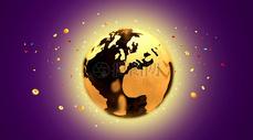 金色地球背景图片