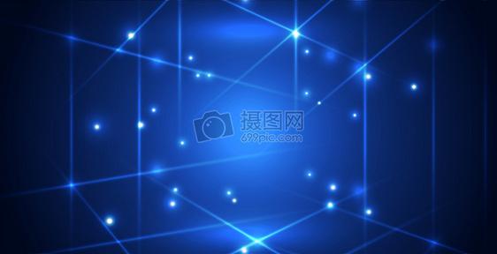 蓝色科技现代空间感背景图片