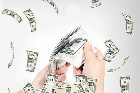 美元满天飞图片