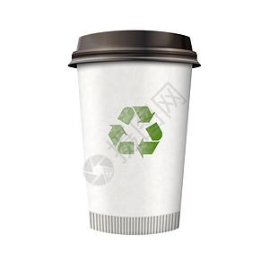 绿色环保纸杯图片