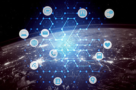 科技地球通信背景图片