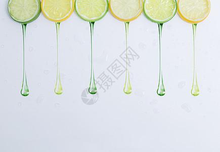 多汁的青橘柠檬图片