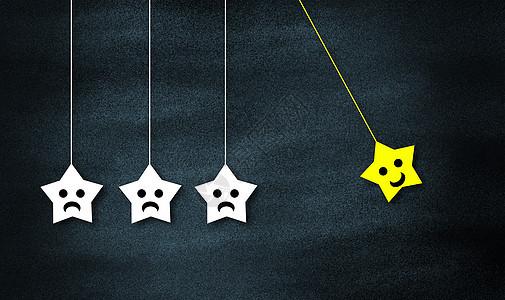 黑板上的星星标签图片