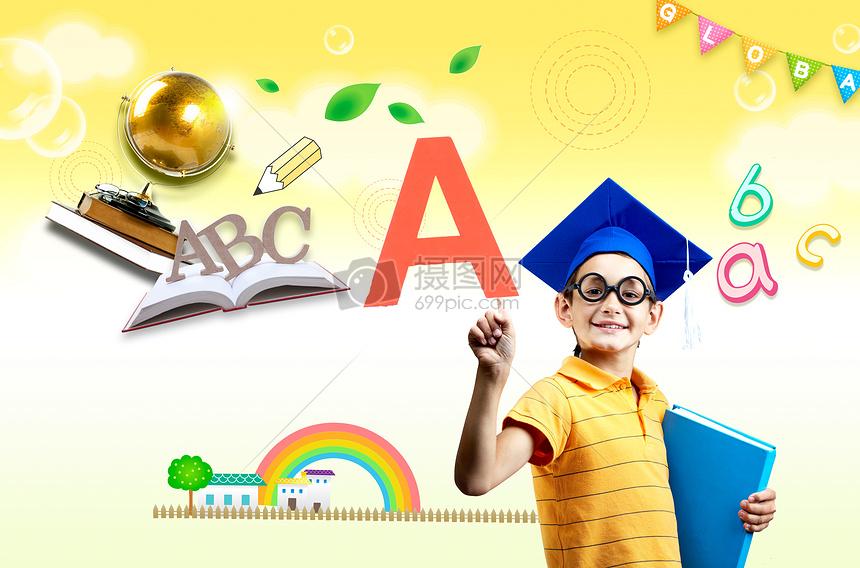 爱学习的学生图片