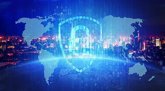 科技锁背景图片
