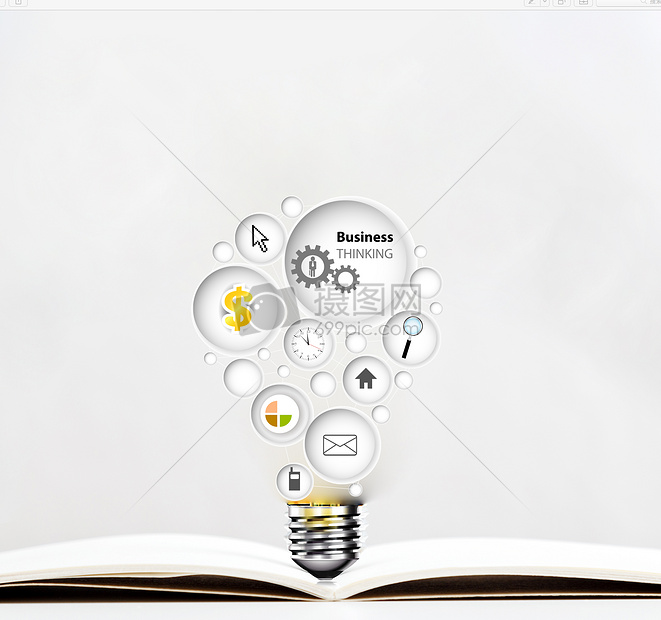 书本中呈现出的知识图片
