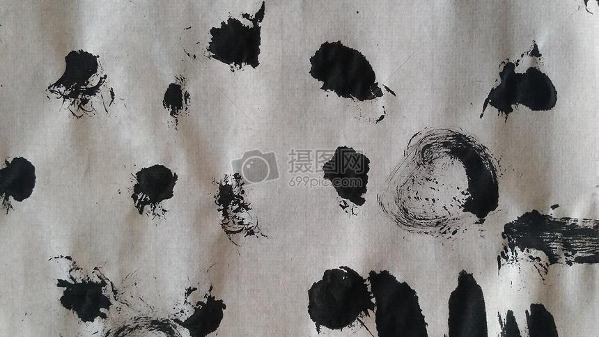 纸上的墨点材质图片