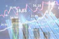 股市背景下的金币上涨数据图片