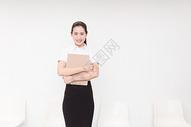 职业美丽女性求职面试形象图片