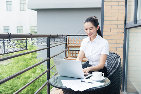 职业女性阳台商业办公图片