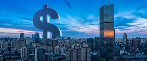 钱币组成的大楼图片