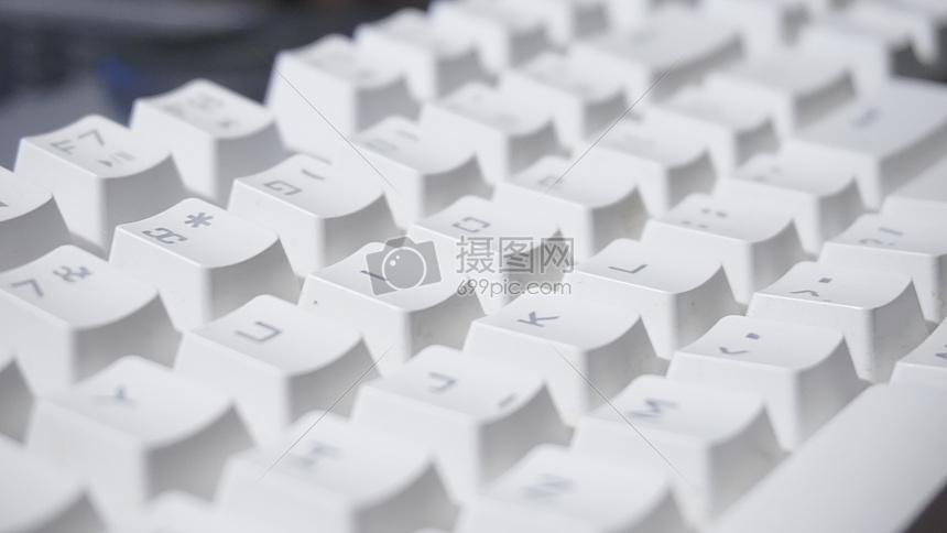 白色键盘图片