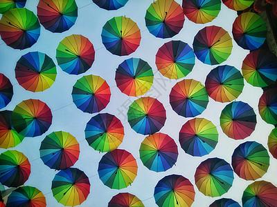 彩虹伞图片