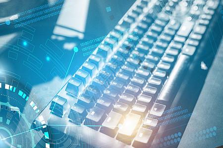 键盘上的科技图片