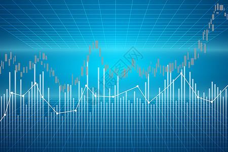 股票数据背景图片