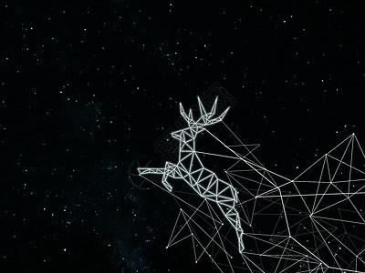 星光下的鹿图片