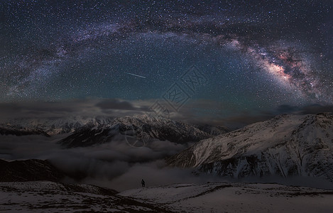 星耀贡嘎雪山图片