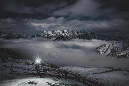 子梅垭口夜景图片