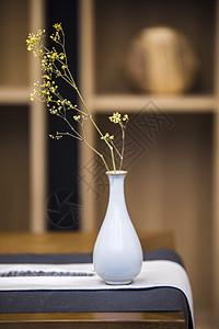 茶禅意古玩茶壶花瓶茶馆图片