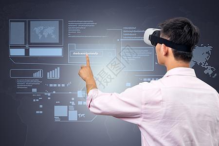 VR眼镜点击科技图图片