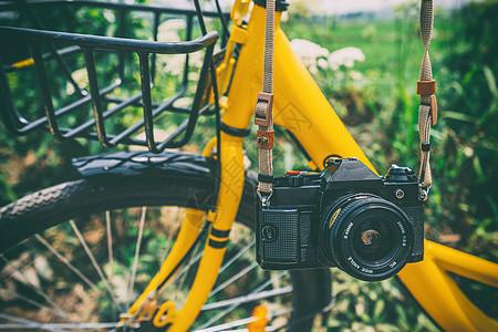 胶片相机自行车图片