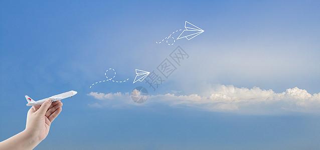 飞向天空图片