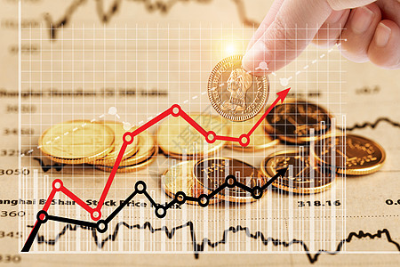 金融走势升值背景图片