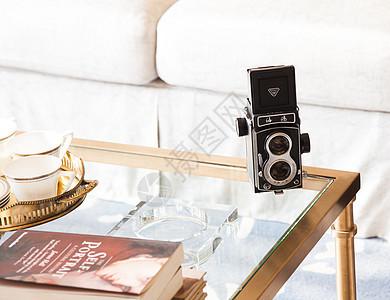 茶几上的海鸥相机图片