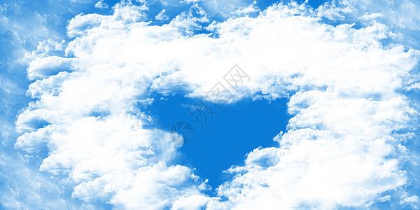 心形天空图片图片