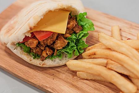 美味土耳其烤肉快餐图片