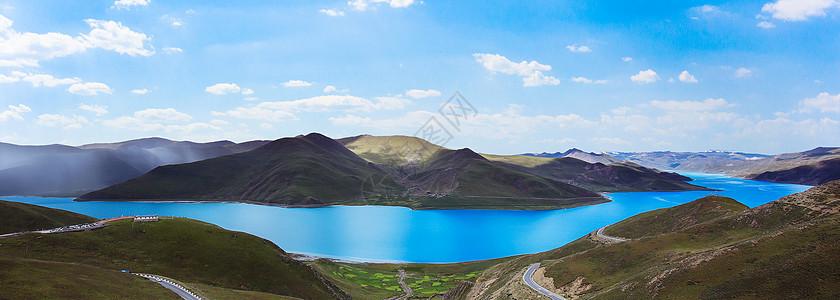 西藏美景羊湖羊卓雍错全景美图图片